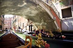 Low Bridge (cookedphotos) Tags: canon 5dmarkii travel italy venice venezia gondola water boat bridge gondolier duck low