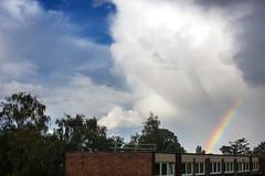 Somewhere, over the rainbow, skies are blue (OR_U) Tags: 2016 oru uk england surrey walton sky blue clouds rainbow weather