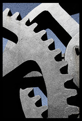Cogs (Siene Browne) Tags: outdoors outside pattern metal cogs mechanical blackandwhite graphic industrial