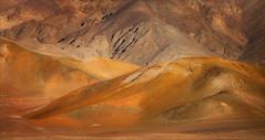 Nasca Hills at Sundown (kate willmer) Tags: hills colour orange sunset dusk light sunlight iron texture landscape nasca peru