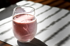 Strawberry Morning (Nathen Russell Haupt) Tags: strawberry smoothie red pink food beverage