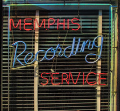 On the Record in  Memphis (Pete Zarria) Tags: tennessee sunstudios elvis rockroll music records hits cash neon sign window