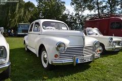 Peugeot 203 (Monde-Auto Passion Photos) Tags: auto automobile peugeot 203 berline blanc france 48h montargis villemandeur domaine lisledon