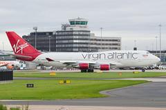 G-VXLG Virgin Atlantic Airways Boeing 747-41R (v1images) Tags: v1images jason nicholls worldwide aviation photography united kingdom uk england manchester international ringway egcc man cloudy overcast grey sky gvxlg virgin atlantic airways boeing 74741r