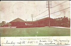 New York Central Railroad Depot, Oneida, NY (CNYrailroadnut) Tags: new york central railroad rr oneida ny nyc water level route madison county postcard mainline depot station