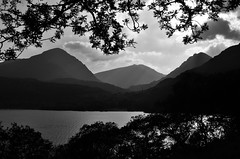 Arrochar Alps & Loch Lomond (brightondj - getting the most from a cheap compact) Tags: fourthwalk inversnaid trossachs scotland arrocharalps bw lochlomond