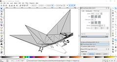 Dragon v1.1 diagram in progress (Mdanger217) Tags: max danger origami dragon v11 diagram inkscape
