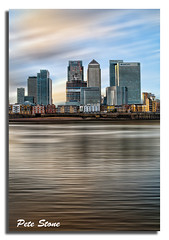 Docklands [no ND filters were harmed during the taking of this image] .......... [Explored]. (pete stone) Tags: uk london water thames skyline photoshop wow motionblur docklands skyandclouds artland topaz canoneos5d creativephotography skyascanvas