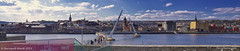 Derry panoramic from Ebrington (Bernard Ward) Tags: bridge peace culture panoramic londonderry waterside derry foyle cityside 2013 ebrington