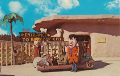 Flintstones Bedrock City - Custer, South Dakota (The Pie Shops Collection) Tags: city southdakota vintage wilma dino postcard fred flintstones rubble custer bedrock bammbamm