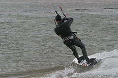 Lepe (Solent) kitesurfer 4 - an exercise in turning! (John (Chichester)) Tags: solent kitesurfer lepe