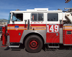 """FDNY """"Castle on the Hill"""" Ladder 149, Dyker Heights, Brooklyn, New York City (jag9889) Tags: county city nyc 3 ny newyork tower architecture brooklyn truck fire company kings borough ladder fdny department firefighters apparatus seagrave 149 dykerheights bravest 284 2013 castleonthehill ladder149 jag9889"""