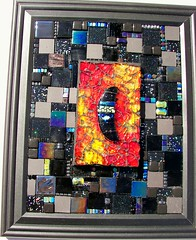 "Abstract Mosaic wall hanging ""Moon Dance"" (Glass Garden Creations / Sharon Kelly) Tags: abstract art glass wall tile mosaic mixedmedia stainedglass hanging dichroic fusedglass temperedglass alcoholinks glassgardencreations"