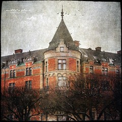 The Bnsow House (Milla's Place) Tags: old city trees windows building tower birds architecture sweden stockholm textures textured stermalm strandvgen millasplace distressedjewell kerstinfrankart lenabemanna ramllep bnsowhouse bnsowskahuset