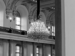 Chandelier (petrusko.rm) Tags: bw white black lamp lumix panasonic chandelier dmc fz200