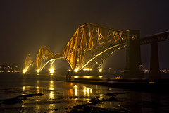 Forth Bridge 10 April 2013 (Grant_R) Tags: night reflections lights scotland edinburgh lowtide forthbridge southqueensferry forthbridges forthrailbridge grantr