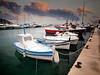 Las barcas de pesca del puerto de Moraira (versión PS) (monsalo) Tags: photoshop puerto mediterraneo ps mat barcas moraira monsalo