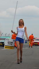 DSC_0035b (dmac_home) Tags: park cars girl grid babe pit british touring btcc donington 2013