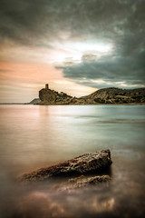 Poetic Silence (Alex Stoen) Tags: longexposure sunset sea sky espaa tower water clouds canon geotagged atardecer mar spain ruins soft flickr peace seascapes g smooth paz poetic alicante ruinas silence cielo hdr highdynamicrange mediterraneansea watchtower smugmug facebook vigilante ef24105f4lisusm canoneos5dmarkii 5dmk2 alexstoen caladecharco alexstoenphotography singhrayvariduo