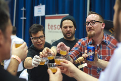 another Three Aces celebration - Baconfest 2013.jpg (opacity) Tags: chicago illinois il baconfest uicforum baconfestchicago chicagobaconfest baconfest2013 baconfestchicago2013 chicagobaconfest2013 baconfest2013candidish baconfestcasuals2013 baconfest2013nondishes