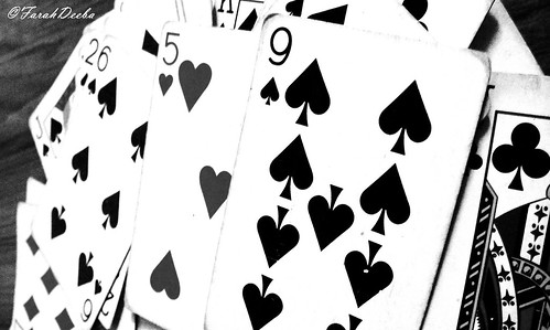 Card Number 9 b&w