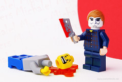 "Michael Myers Minifigure (Kristi ""McWii"") Tags: film halloween movie lego mask knife killer horror custom remake robzombie minifigure michaelmyers"