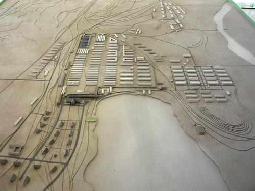 Model of former Ravensbrück concentration camp