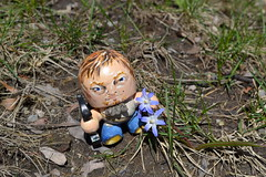 Tiny Daryl Dixon Spring Adventure (wickeddollz) Tags: silly spring walk adventure distraction walkingdead normanreedus alteredartdoll daryldixon
