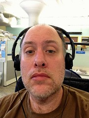 Day 466 - Day 100: With headphones (knoopie) Tags: selfportrait me doug april year2 day100 picturemail iphone knoop day466 365days 2013 knoopie 365more 365daysyear2