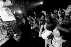 """Rock 'n' Roll People"" (The Prisoner) (Eric Flexyourhead) Tags: girls people bw japan club japanese tokyo blackwhite crowd band punkrock   fans kichijoji rocknroll theprisoner livehouse  musashino  musashinoshi fl50r rockjointgb panasoniclumix714mmf40 olympusem5"