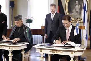 President of Afganistan Hamid Karzai visiting Finland 29.4.2013