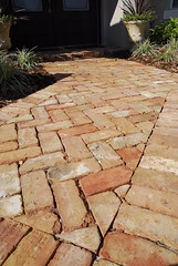 Clay Paver Walkway (OutdoorImpressions) Tags: landscape 45 clay walkway pathway degree paver pavers herringbone