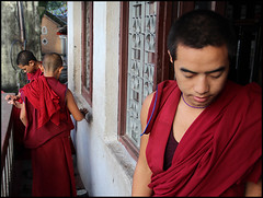 Young monks (piyush in) Tags: nepal monks kathmandu aasia swayambhu monestary youngmonks flickraward earthasia mygearandme