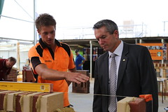 Minister Redman tours the 2013 GSC