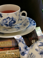 Blue and White (snap713) Tags: tea teapot teacup blueandwhite