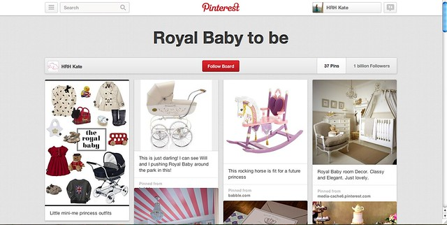 Preview of Royal Pinterest Board