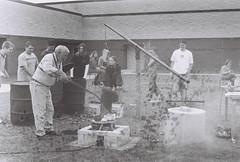 Raku firing (PikeView High School, 2000) (Andrew T...has left the building) Tags: ceramic 2000 smudge wv westvirginia pentaxk1000 kiln gardner mercercounty pikeviewhighschool