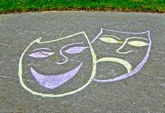 Chalk Design: The Dramatic Arts  - Ottawa 05 13 (Mikey G Ottawa) Tags: street city ontario canada colour design chalk ottawa arts sidewalk drama farbe couleur mikeygottawa dramaticart
