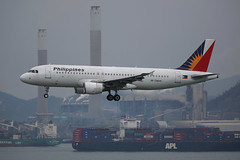 "Airbus, A320-214, RP-C8609, ""Philippine Airlines"", VHHH, Hong Kong (Daryl Chapman's - Automotive Photography) Tags: china chimney plane canon hongkong is ship aircraft landing ii airbus 5d pr arrival f28 powerstation sar skydeck converter clk apl philippineairlines x2 hkia 70200l 3273 viewingdeck chinashippingline a320214 25r rpc8609"