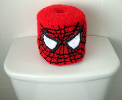 Crocheted Spiderman Toilet Roll Cover (sewumm) Tags: spiderman toilettraining crochetedtoiletrollcover