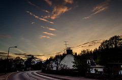 Dulnain Bridge (RossElder) Tags: road lighting street houses light sunset sun building slr skyscape landscape scotland highlands nikon warm track place dusk room scottish places trail highland adobe dslr aviemore lightroom grantownonspey d7 grantown dulnainbridge dulnain d7000 nikond7000 lightroom4