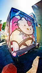 Graffiti truck in Sanfrancisco loves HelloKitty (Tommy Noshitsky) Tags: sanfrancisco street streetart art truck graffiti hellokitty oldschool loves kittygraffiti graffitilife hellograffiti jokersf