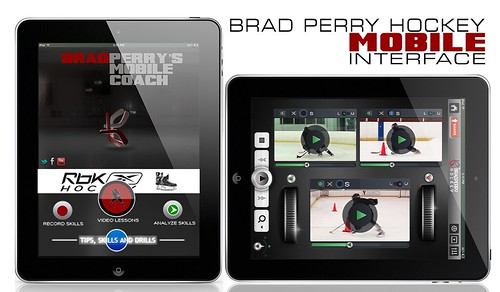 Brad Perry Hockey Mobile Interface