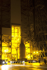 Orion at SLC-37 Service Structure