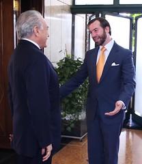 2014-11-17 Encontro do presidente em exercício, Michel Temer, com o príncipe Guillaume de Luxemburgo.