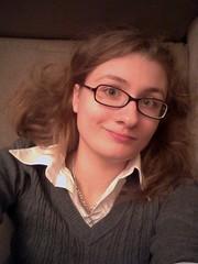 Selfie (SarahJDhue) Tags: winter me smile self sweater chillin couch smirk classy selfie sarahjdhuephotos sarahjdhue