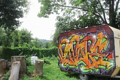 la barraque a mix (weaks oner) Tags: weeks weaks graffiti gek graff m2m tbg tag caravane popope la baraque mix yeah men selekta