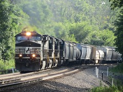 Norfolk Southern Chicago Line / MP 474 Eastbound (codeeightythree) Tags: otisindiana otis indiana norfolksouthernrailroad norfolksouthernchicagoline ns freightrain transportation