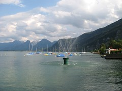 St. Gilgen Wasserspiel (marbaz_12) Tags: sterreich austria salzkammergut sanktgilgen wolfgangsee fontne fountain lake wolfgang