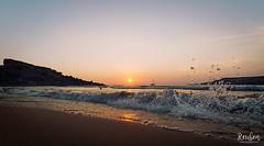 Samyang 14mm Test ( diwizard) Tags: riviera malta samyang canon 14mm beach sand splash sunset